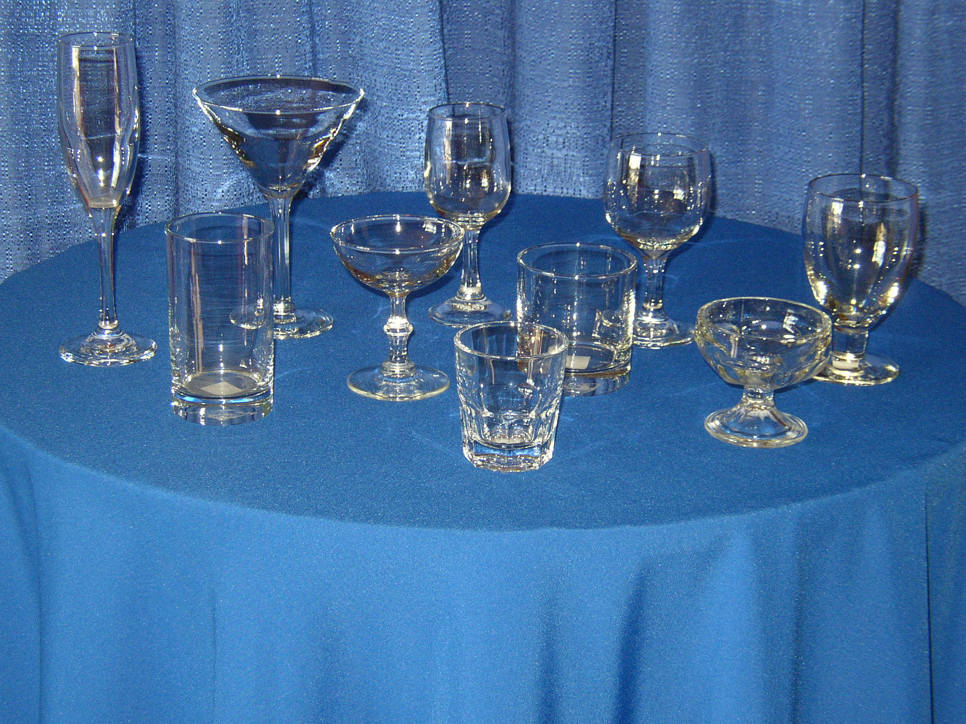 Rental Stemware & Glassware for your Event